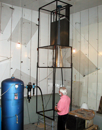 Reverberation room for absorption measurements